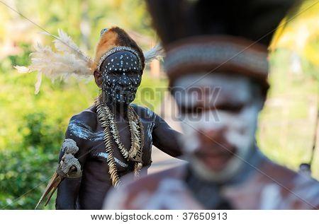 Portrait Of The Asmat Warrior
