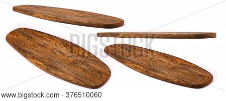 Wooden Cutting Board. Chopping Boards Isolated On White Background