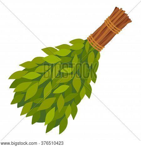 Broom From Birch Twigs, Branches For Russian Steam Bath, Sauna, Washhouse.