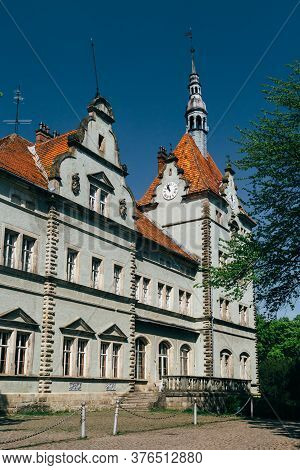 Carpathian, Ukraine - May, 6 2017: The Schoenborn Or Schonborn Hunting Palace, Beregvar Castle And A