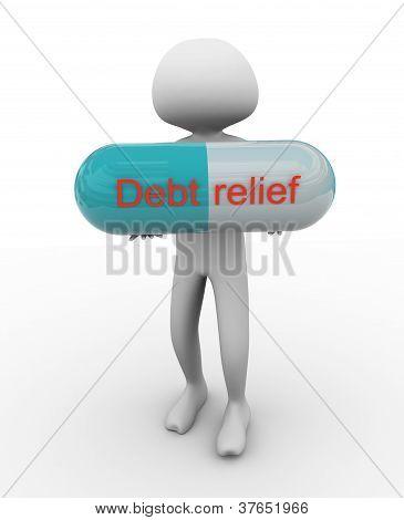 3D Man Holding Pill