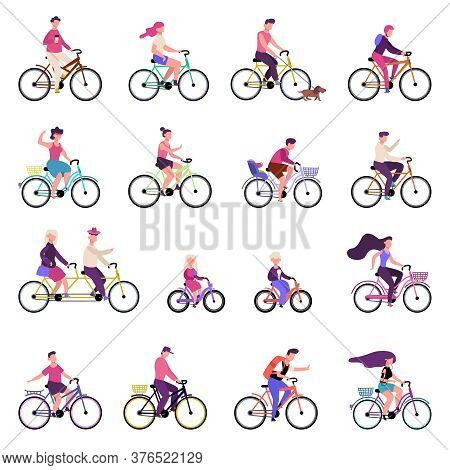 People Riding Bikes. Outdoor Activities, Group Of People Riding Bicycles, Bike Riding, Active Family