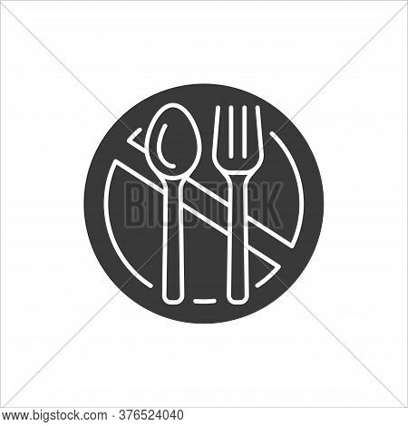 Starvation Black Glyph Icon. Poverty, Risis. Social Problem Concept. Sign For Web Page, Mobile App,
