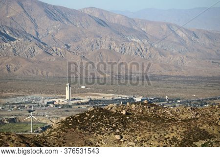 July 15, 2020 In Cabazon, Ca:  Morongo Hotel And Casino High Rise Building With Views Of The Arid De