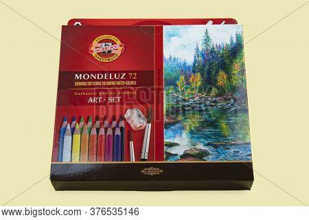 Wetzlar, Germany 2020-06-11: Koh-i-noor Drawing Pencils Art Set. Koh-i-noor Hardtmuth A.s. Is A Czec