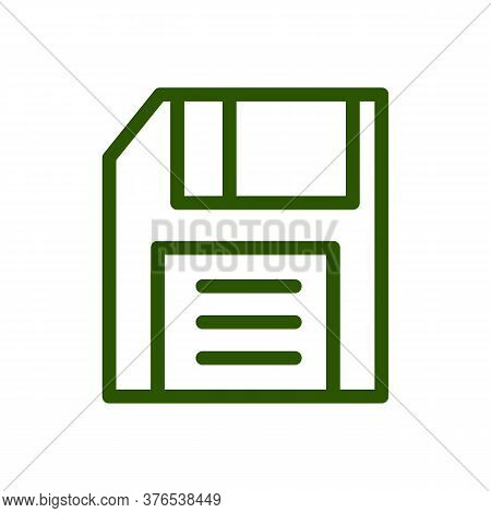 Save Icon Vector Illustration. Isolated Floppy Disk Symbol. Record Line Concept. Save Diskette Graph