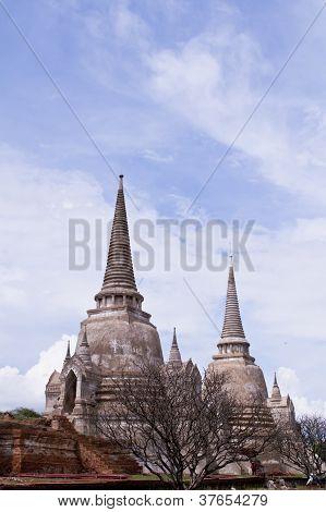 Pagoda At Ayutthaya Temple, Thailand