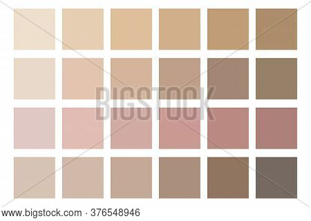 Skin Color Tones. Beige Palette. Soft Shades Of The Human Body. The Color Of Natural Face Care.