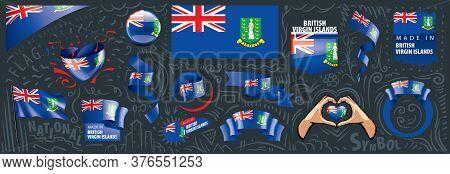 Vector Set Of The National Flag Of British Virgin Islands