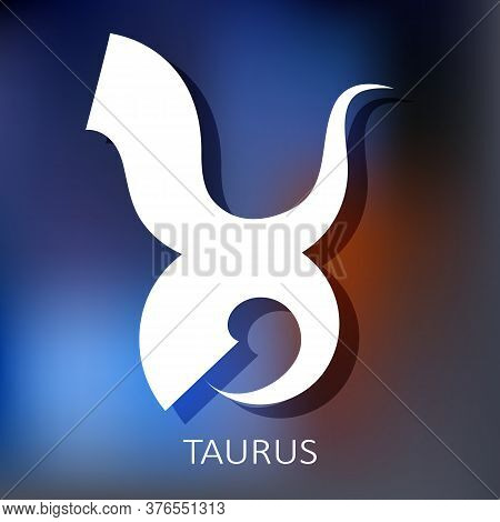 Zodiac Sign Taurus Isolated On Bright Background. Zodiac Constellation. Design Element For Horoscope