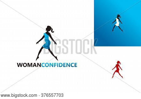 Woman Confidence Logo Template Design Vector, Emblem, Design Concept, Creative Symbol, Icon