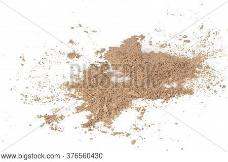 Loose Powder For The Face Isolated On A White Background.