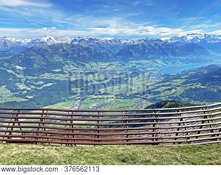 Metal Structures For Protection Against Avalanches On Mount Matthorn In The Pilatus Mountain Massif,