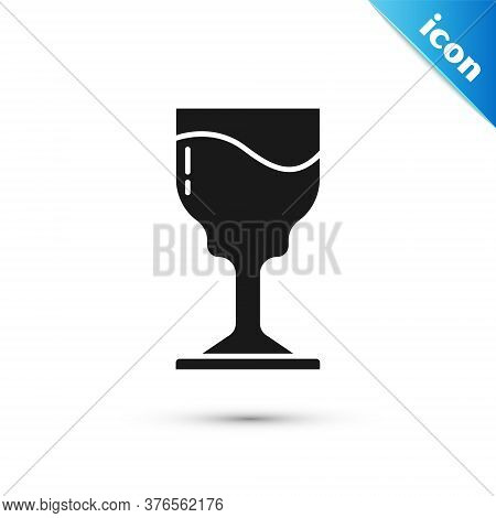 Grey Wine Glass Icon Isolated On White Background. Wineglass Icon. Goblet Symbol. Glassware Sign. Ha