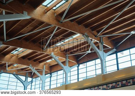 Metal Supporting Structures Of The Truss Ceiling