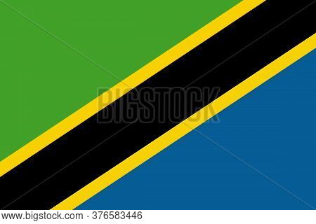 Tanzania National Flag Graphics Design. Business Concepts And Backgrounds.