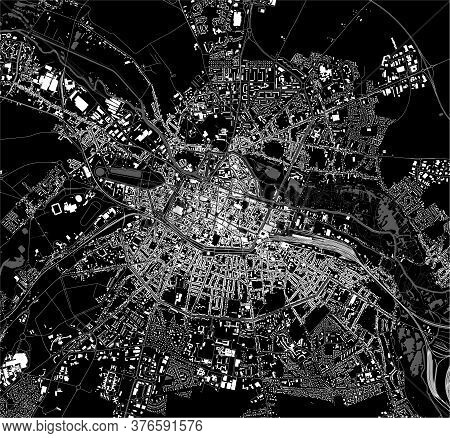 Map Of The City Of Amiens, Somme, France
