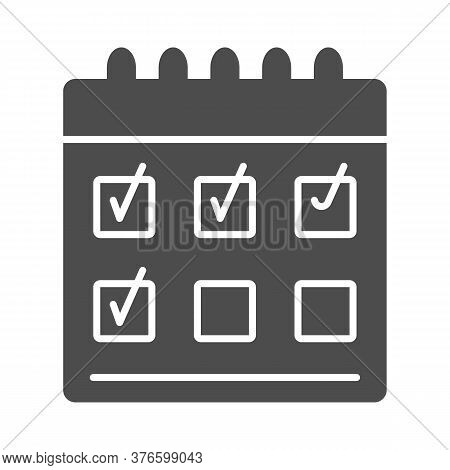Golf Score Solid Icon, Sports And Competition Concept, Scoreboard Sign On White Background, Checked