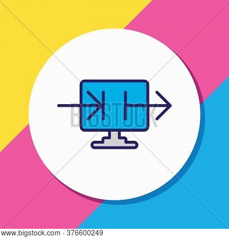 Vector Illustration Of Data Sharing Icon Colored Line. Beautiful Privacy Element Also Can Be Used As