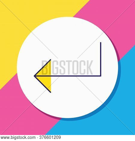 Vector Illustration Of Enter Icon Colored Line. Beautiful Ui Element Also Can Be Used As Input Icon