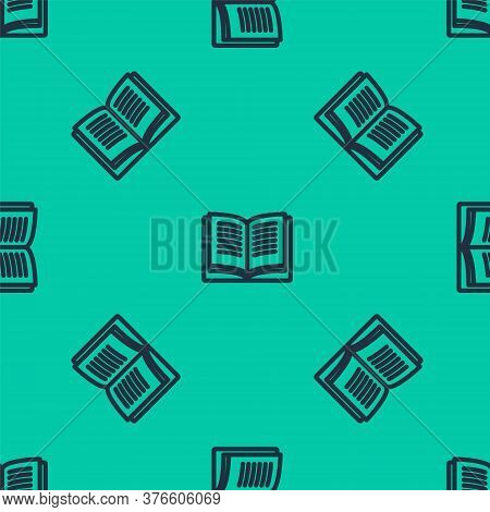 Blue Line Math System Of Equation Solution On Speech Bubble Icon Isolated Seamless Pattern On Green