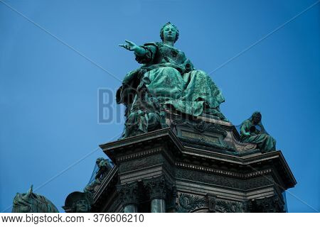 Statue Of Maria Theresa In Vienna, Austria, Europe At