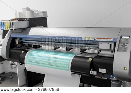 printing equipment and technology concept - large format printer