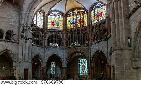 Interior View Of The Minster In Basel