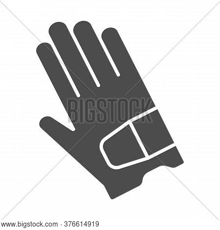 Glove Solid Icon, Golf Concept, Sport Gloves Sign On White Background, Golf Glove Icon In Glyph Styl