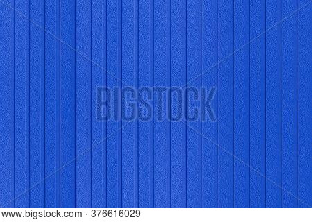 Blue Corrugated Metal Background And Texture Surface Or Galvanize Steel
