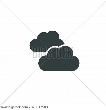 Clouds. Overcast. Isolated Icon. Weather Glyph Vector Illustration