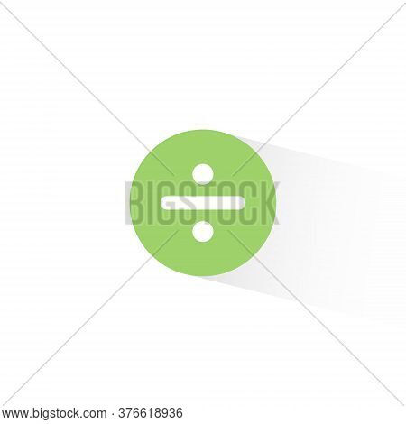 Division Sign Vector In Trendy Flat Style. Divide Icon Illustration