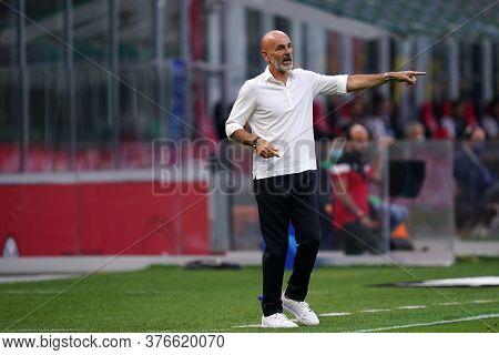 Milano, (italy). 15th July 2020. Italian Serie A. Ac Milan Vs Parma Calcio . Stefano Pioli, Head Coa