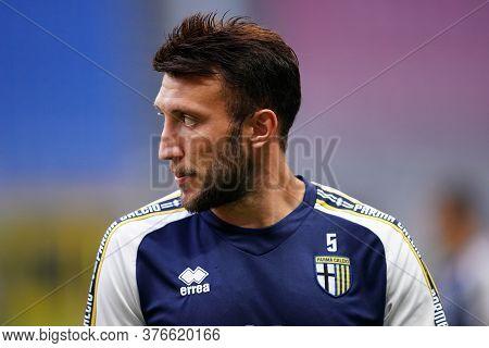 Milano, (italy). 15th July 2020. Italian Serie A. Ac Milan Vs Parma Calcio . Vasco Regini Of Parma C