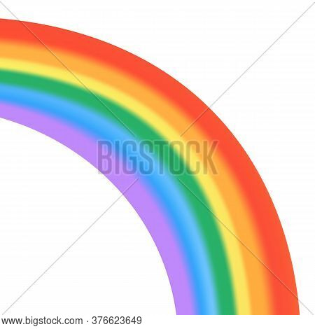 Rainbow Isolated. Fantasy Rainbow Pattern. Realistic Translucent Sky Icon.