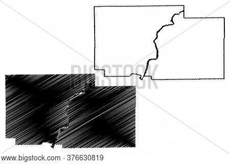 Ogle County, Illinois (u.s. County, United States Of America, Usa, U.s., Us) Map Vector Illustration