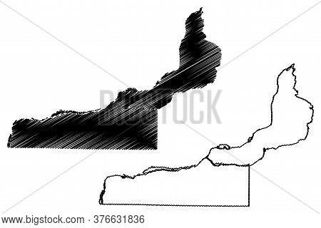 Rock Island County, Illinois (u.s. County, United States Of America, Usa, U.s., Us) Map Vector Illus