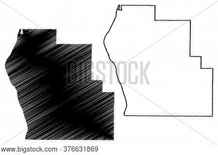 Scott County, Illinois (u.s. County, United States Of America, Usa, U.s., Us) Map Vector Illustratio
