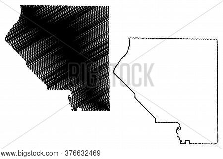St. Clair County, Illinois (u.s. County, United States Of America, Usa, U.s., Us) Map Vector Illustr
