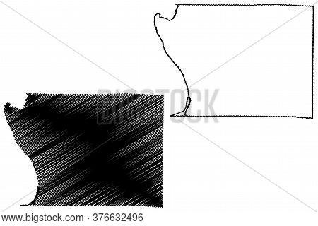Union County, Illinois (u.s. County, United States Of America, Usa, U.s., Us) Map Vector Illustratio