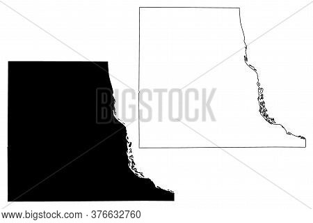 Clayton County, Iowa (u.s. County, United States Of America, Usa, U.s., Us) Map Vector Illustration,