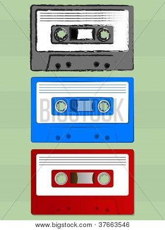 Old Cassette Tape Icons