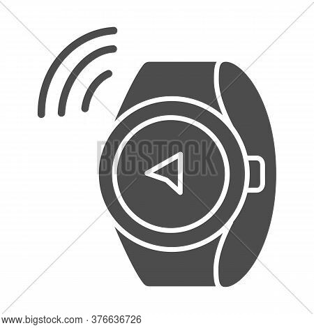 Watch Compass Solid Icon, Directions And Navigation Concept, Smart Watch Sign On White Background, C