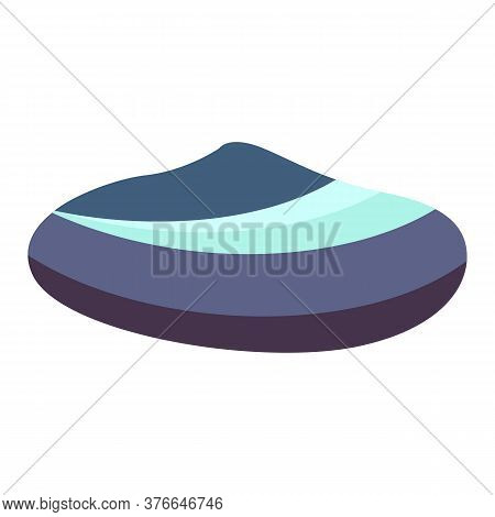 Dark Blue Sea Shell Illustration. Mollusc, Ocean, Decoration. Nature Concept. Illustration Can Be Us