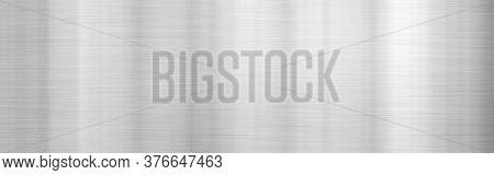 brushed metal white aluminum wide plate banner background illustration