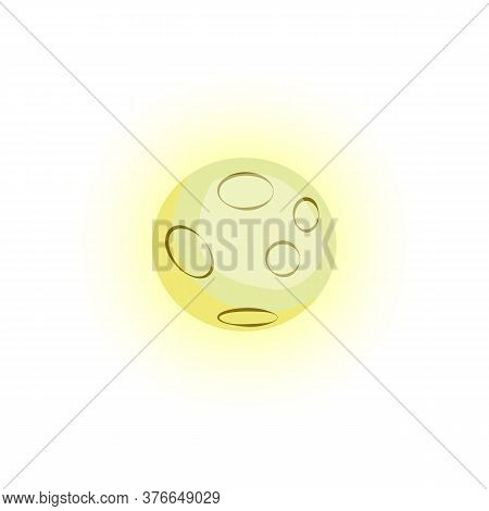 Yellow Mercury Planet. Bright Space Planet. Can Be Used For Topics Like Galaxy, Astronomy, Space Exp
