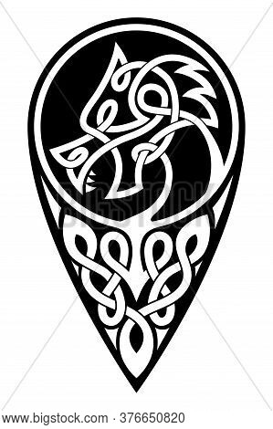 Vector Celtic Dragon.