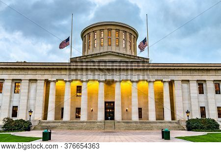 The Ohio Statehouse, The State Capitol Building And Seat Of Government For The U.s. State Of Ohio. C