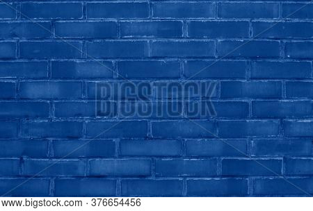 Brick Wall Toned In Trendy Classic Blue Color Of The Year 2020