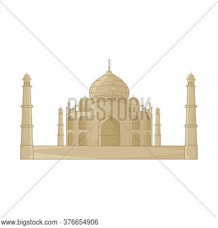 Taj Mahal Image. Indian Famous Building - Vector